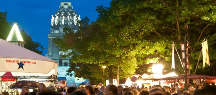 Leipziger Bierbörse am Völkerschlachtdenkmal.